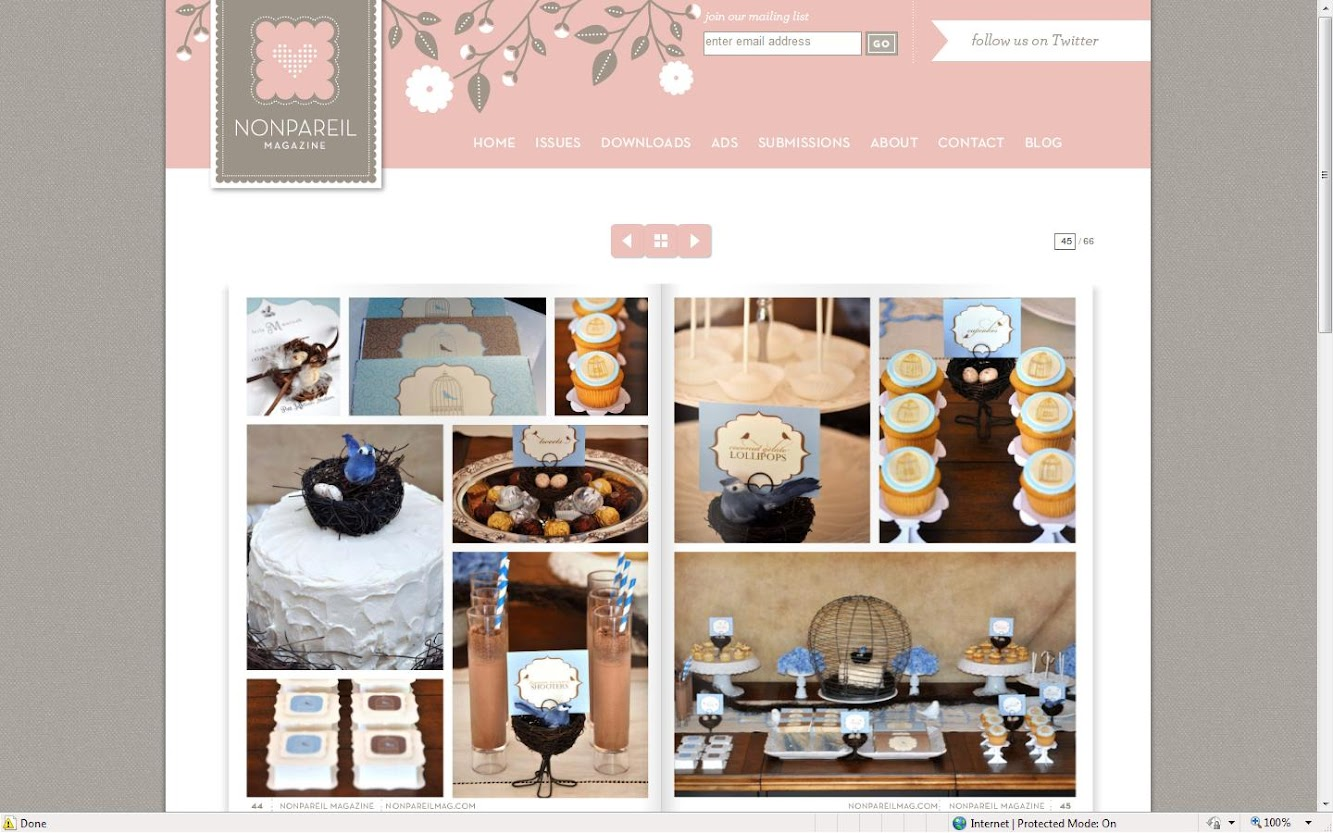 Nonpareil Magazine Dessert Table
