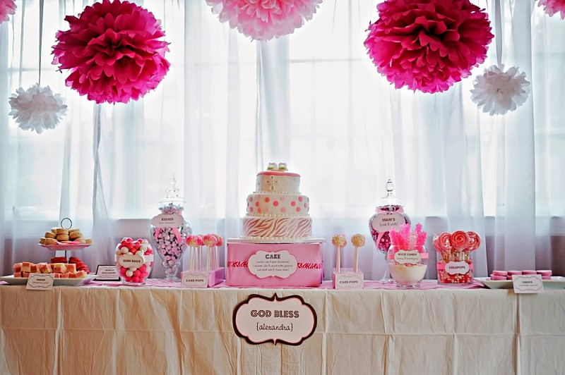 Pink Zebra Dessert Table