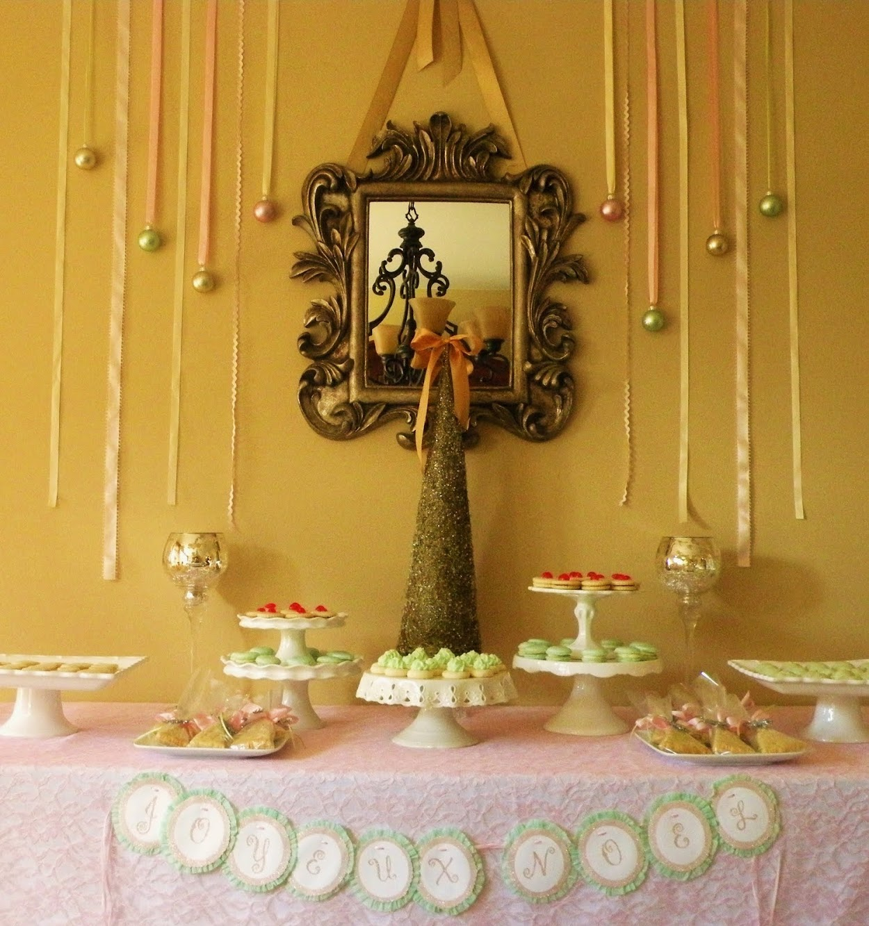 Parisian Holiday Dessert Table