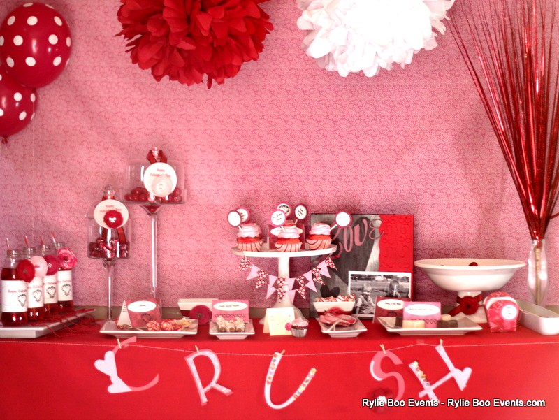 CRUSH Valentine's Day Dessert Table