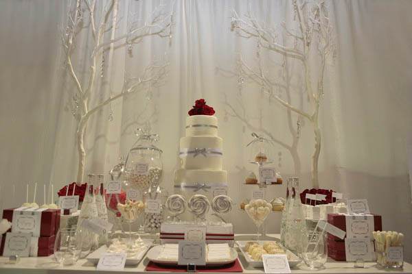 Winter White Dessert Table