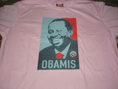 Camisa Obamis - Obama + Mussum