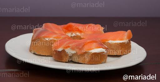 Tapa de salm n ahumado blog mariadel - Tapas con salmon ahumado ...