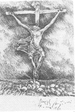 """vaticano la estatua """"la resurreccion"""" Fazzini-crocifissione2"""