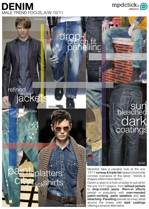 Denim: Male Trend Focus A/W 10/11