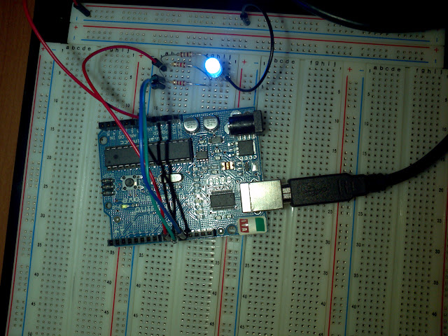 Arduino and RGB LED circuit