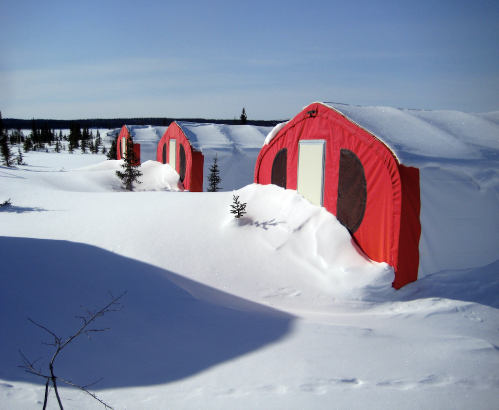 Alaska Structures' fabric buildings being used at a remote mining camp.
