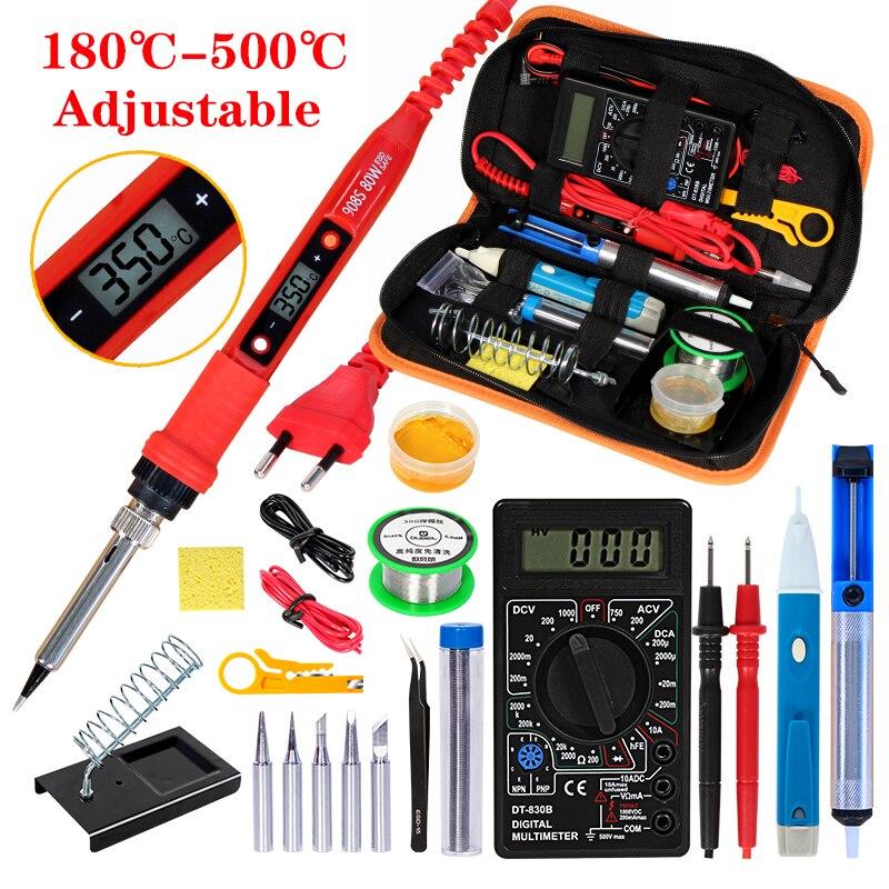 Electric Soldering Iron Gun Tool Kit 220V 80W Adjustable Temperature Welding kit