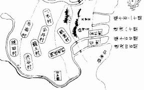 正保年中改訂図の入間川1645年-1648年頃