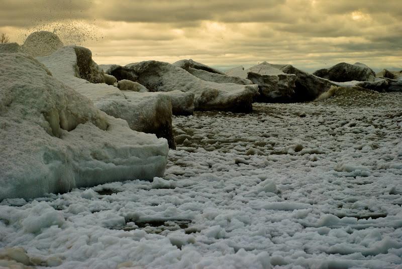 mroźna Pensylwania skuta lodem..