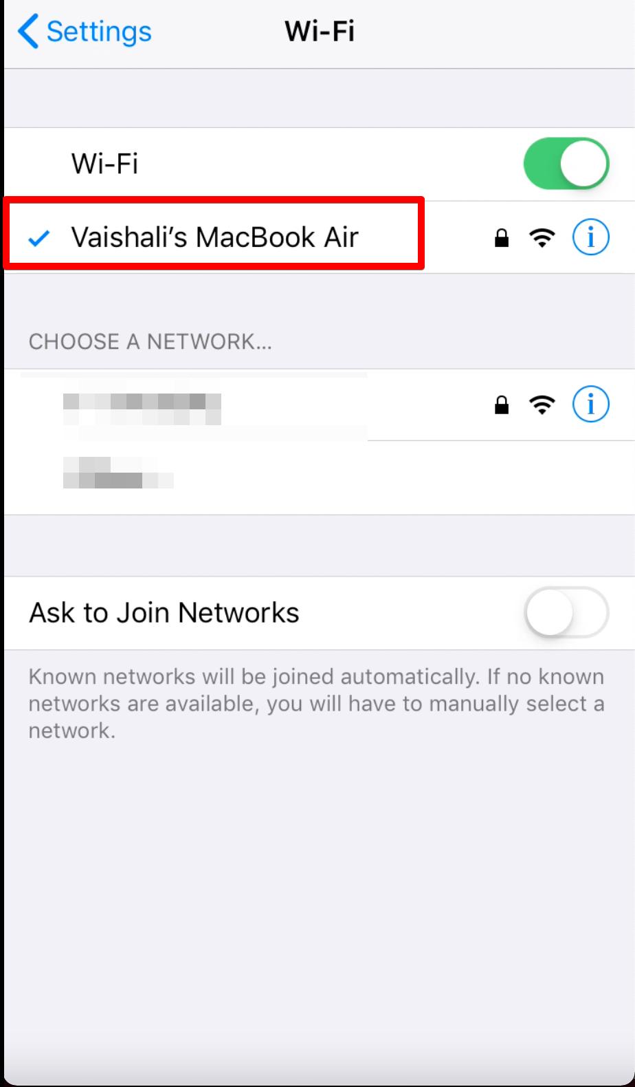 Macbook's wifi