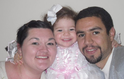Rachael Ratliff, Amine Lemghaili and their daughter