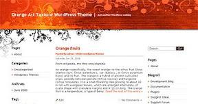 Orange Art Texture