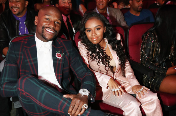 Floyd Mayweather and his daughter Iyanna Mayweather