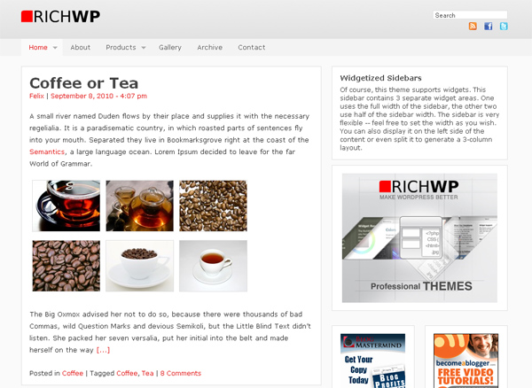 RichWP WordPress Theme Framework