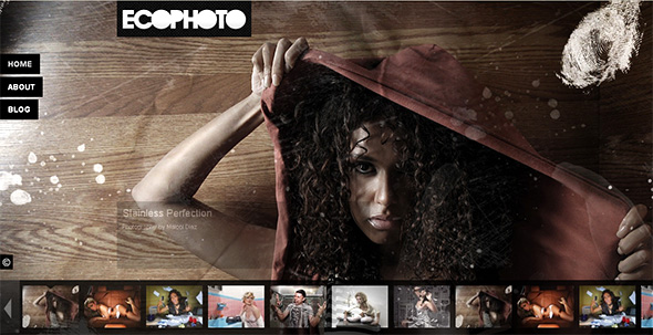 ecoPhoto Fullscreen WordPress Portfolio Theme