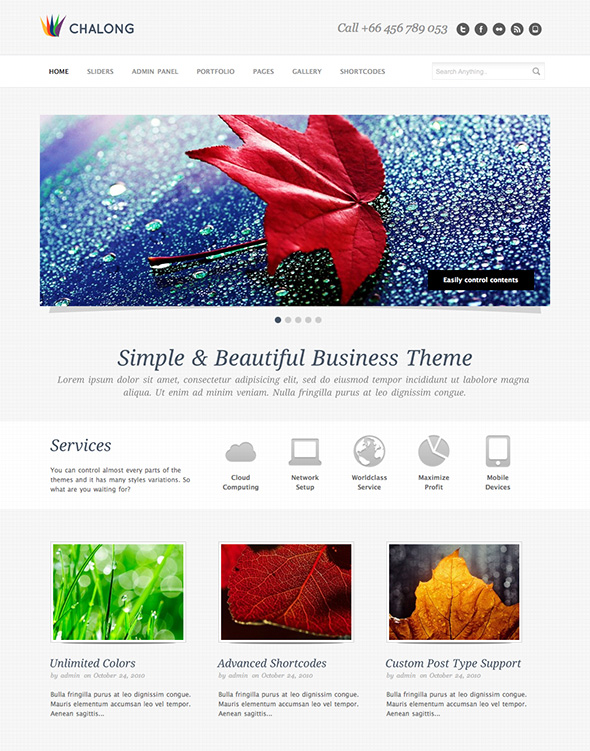Chalong Minimalist Design WordPress Theme