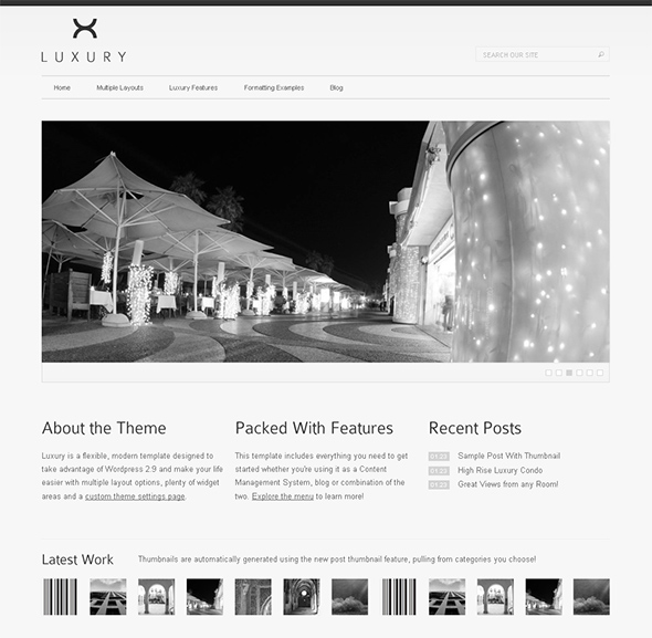 Luxury Minimalist Design WordPress Theme
