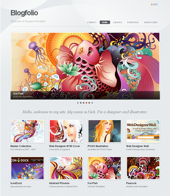 Blogfolio Minimalist Design WordPress Theme