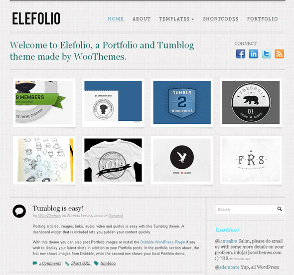 Elefolio Minimalist Design WordPress Theme