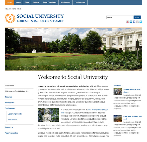 Academica Clean WordPress Theme
