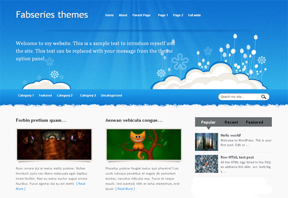 Iris Free WordPress Theme