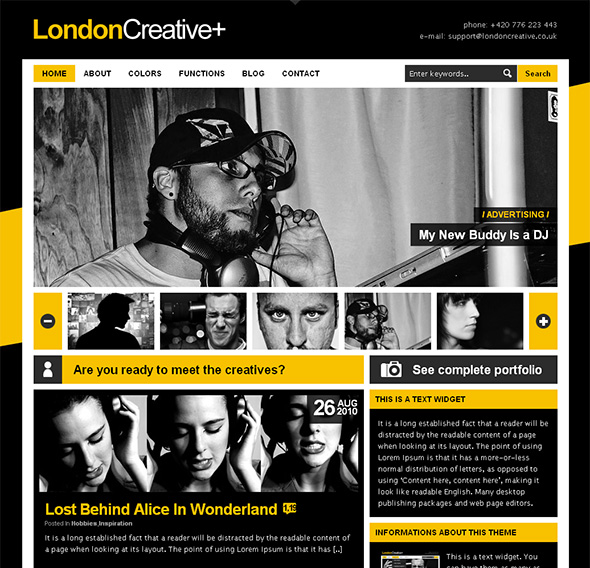 London Creative WordPress Theme for Bands and Musicians