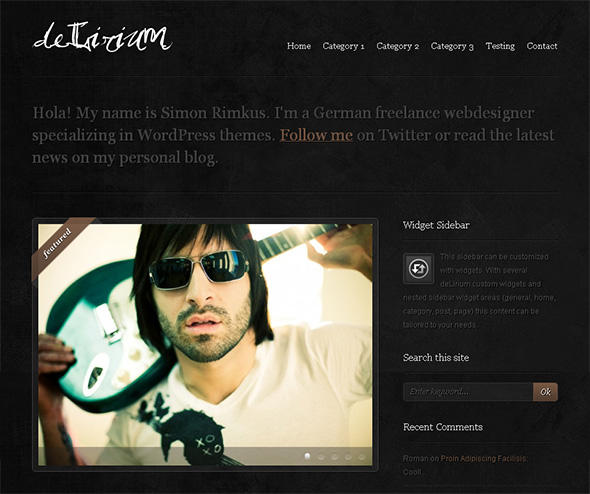 Delirium WordPress Theme for Bands
