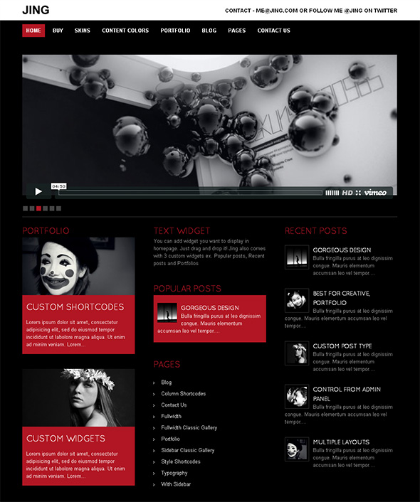 Jing WordPress Theme for Musicians