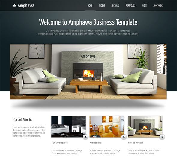 Professional wordpress themes for interior design studios and luxury furniture stores wpdressing for Interior design wordpress theme