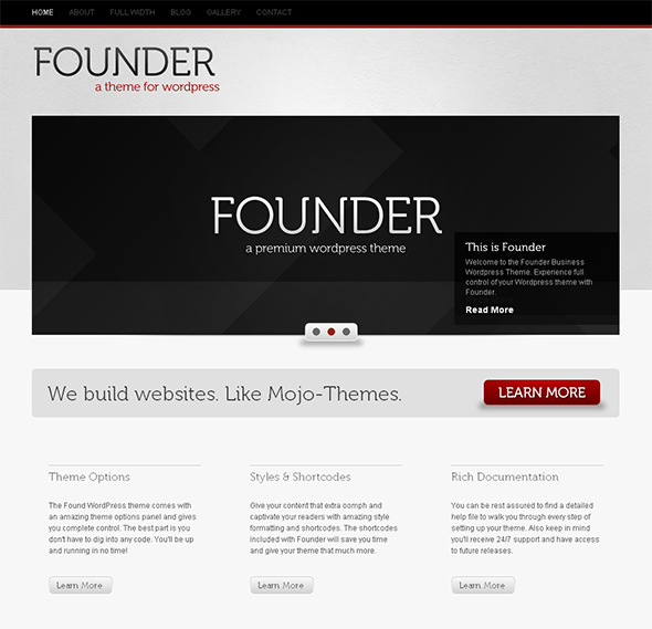 Founder Professional WordPress Theme