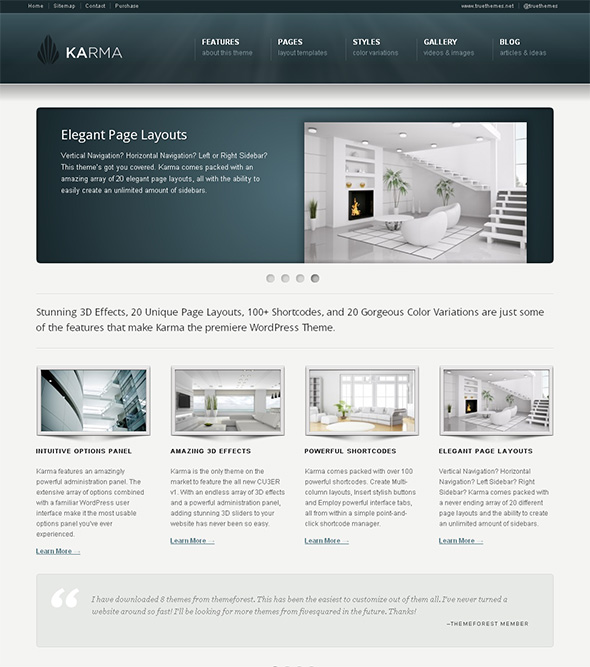 Karma Professional WordPress Theme