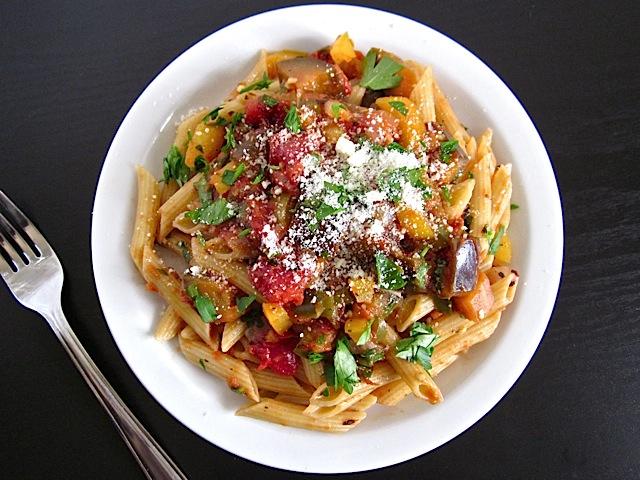 eggplant caponata pasta