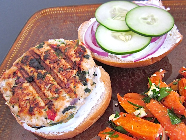 Spinach, lemon, feta, garlic, and dill pack a lot of flavor into these healthy and delicious Greek Turkey Burgers. BudgetBytes.com