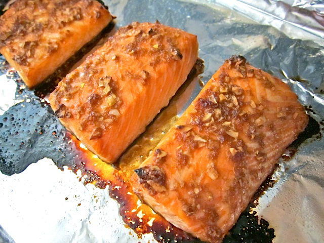 baked ginger salmon