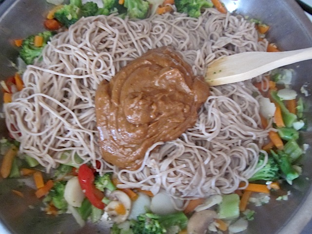 add peanut sauce