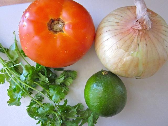 pico de Gallo vegetables (tomato, onion, lime, cilantro)