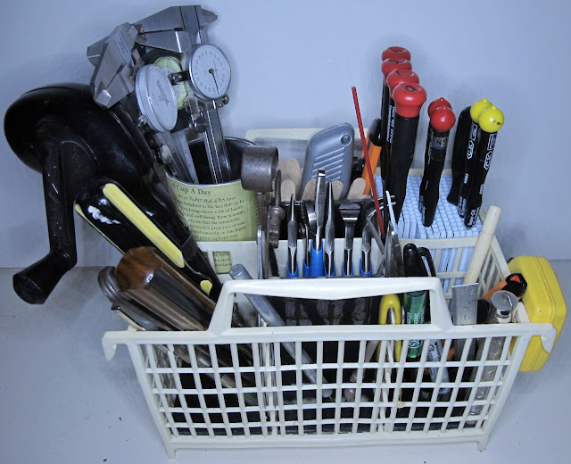 Tool caddy from dishwasher silverware carrier
