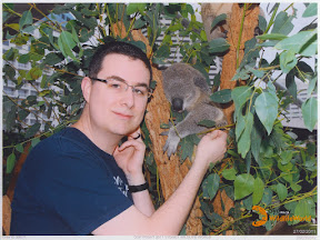 Me and Sid the koala at Sydney Wildlife World.