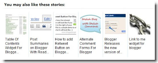 Related Posts Widget for Blogger with Thumbnails