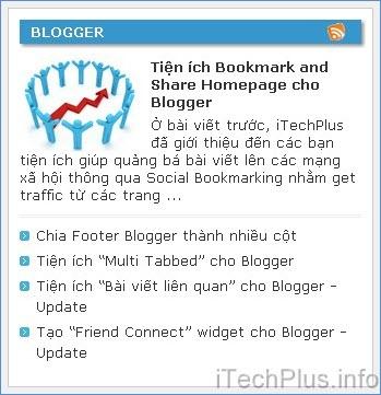 Tiện ích Recent Posts giống iTechPlus.info