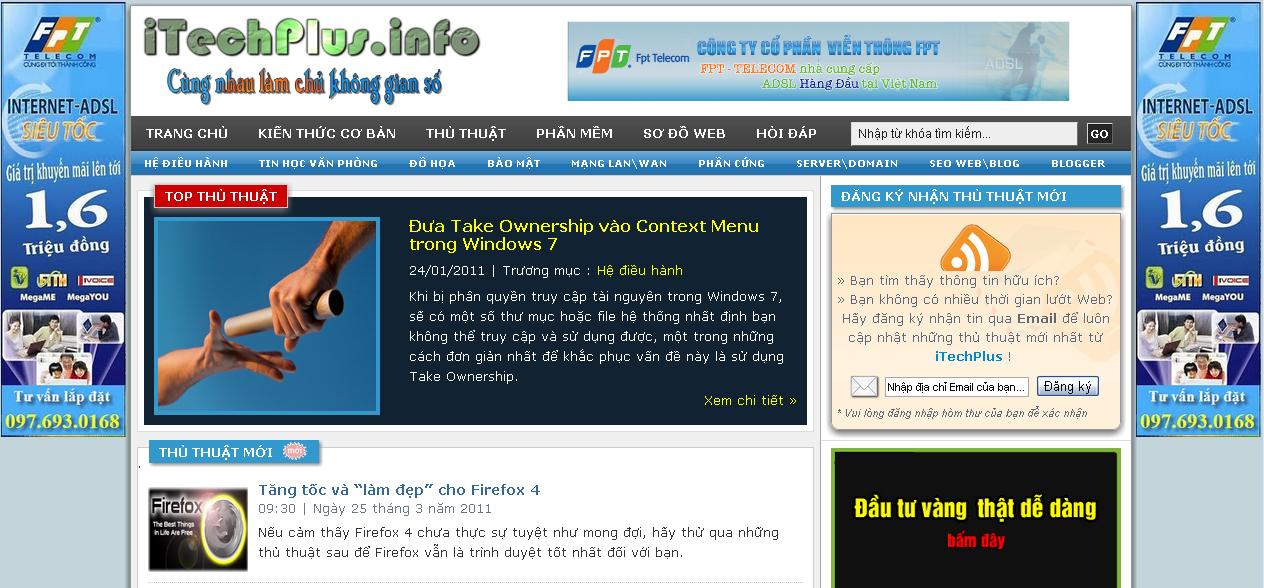 Banner quảng cáo trượt dọc 2 bên trang web