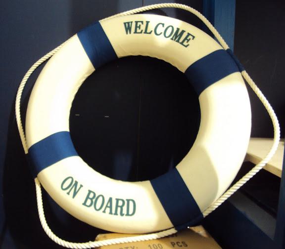 deko rettungsring maritim nautika 50 cm blau wei ebay. Black Bedroom Furniture Sets. Home Design Ideas