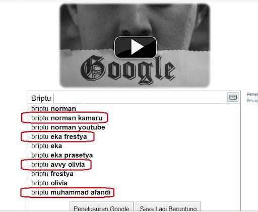 briptu terkenal versi google