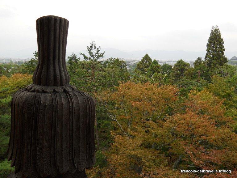 Vue depuis la porte Sanmon du temple Nanzen-ji