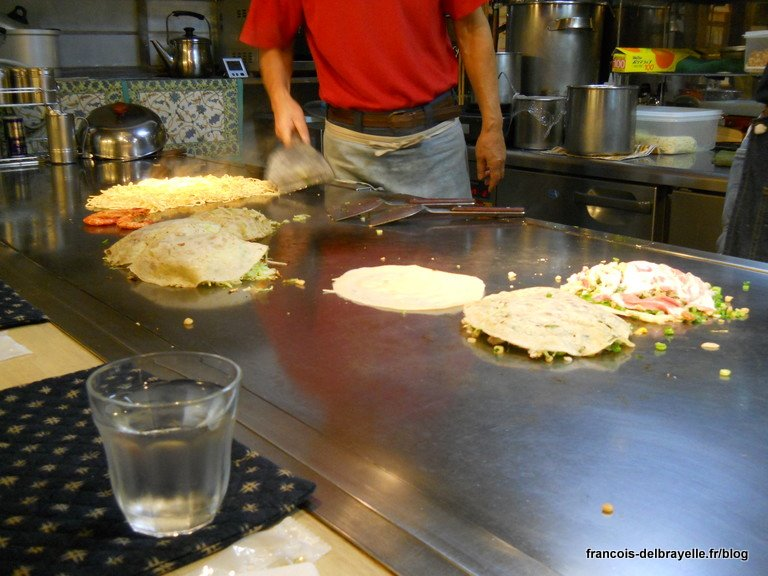 Restaurant d'okonomiyaki à Omiya