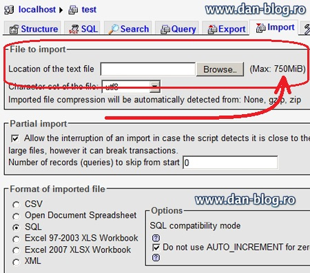 php my admin Change maximum file import size in PhpMyAdmin