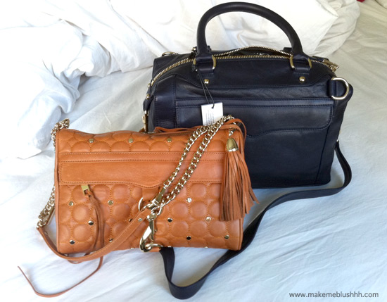 rebecca minkoff quilted clutch. I got a camel quilted/studded