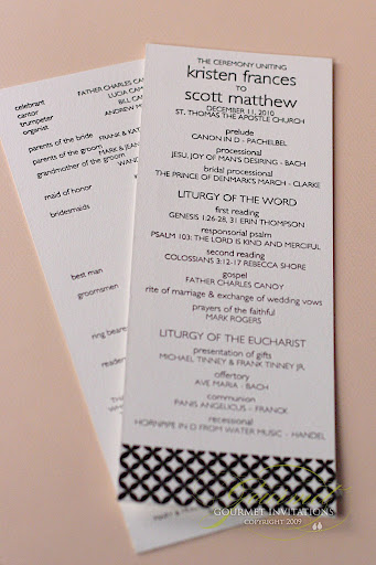 Modern Black And White Wedding Reception Gourmet Invitations