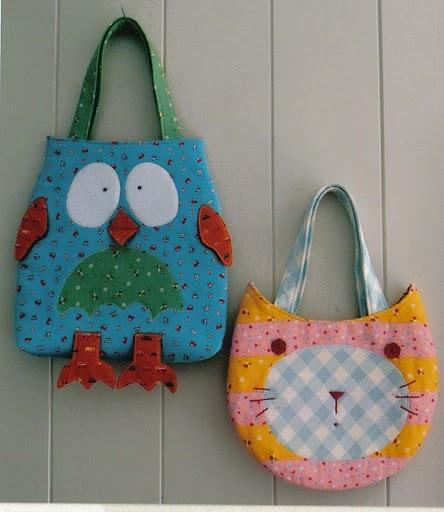 Bolsa Em Tecido Moldes : Moldes de bolsas tecido infantis bichinhos artesanato